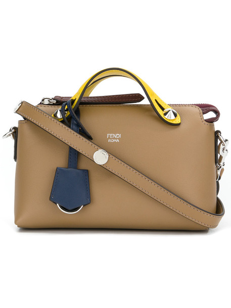 Fendi mini women leather brown bag