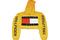 Soto militia — fashion killa x trillfiger crop hoodie (yellow)
