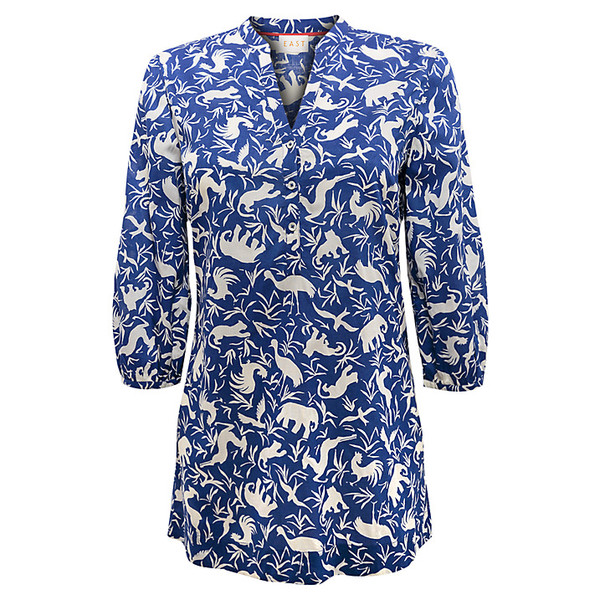 blouse east noah print blouse east noah print noah blue