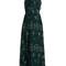 Tie-back floral-print georgette dress