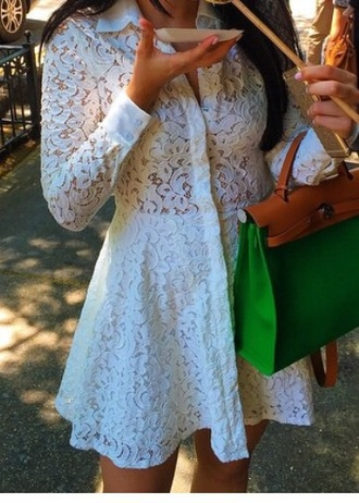 dress white dress lace dress mini dress