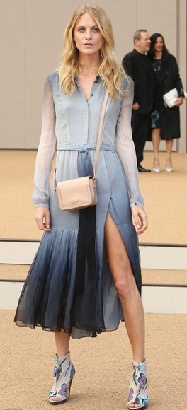 shoes sandals fashion week 2014 poppy delevingne dress