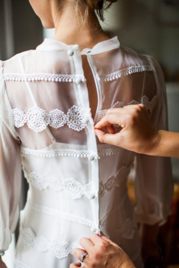 blouse wedding dress
