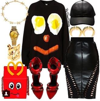 top bag jewels moschino