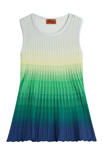 top ombre top sleeveless knit ombre multicolor