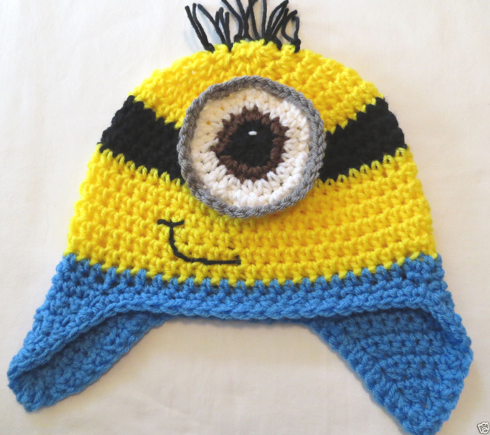 ★★despicable Me Inspired Minion Character Crochet Hat★ $15 $22 Infant to Adult | eBay