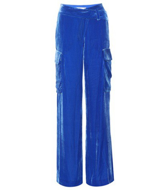 Monse velvet blue pants