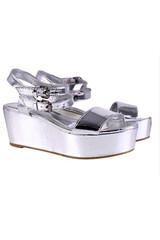 Sirenlondon — silver submarine sandals