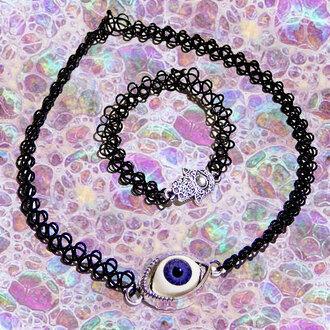 jewels tattoo choker eyeball charm evil eye