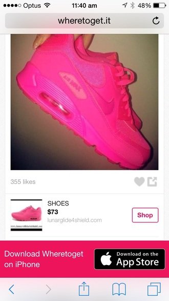 shoes nike air max fluor pink