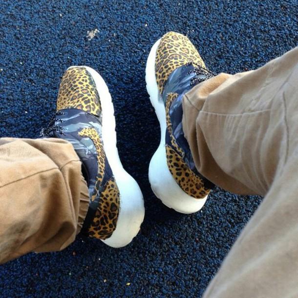 shoes nike roshe run leopard print
