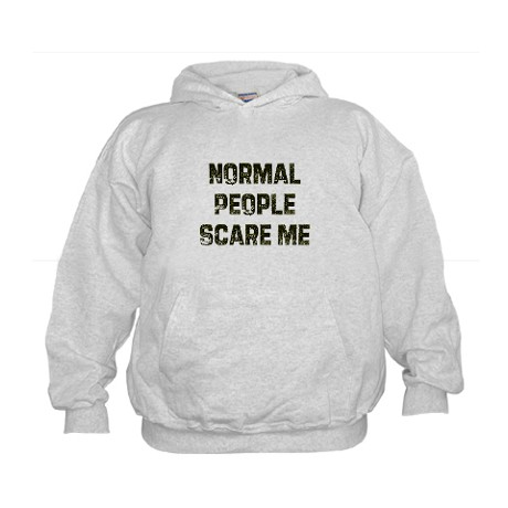 Normal people scare me hoodie by babblemonger