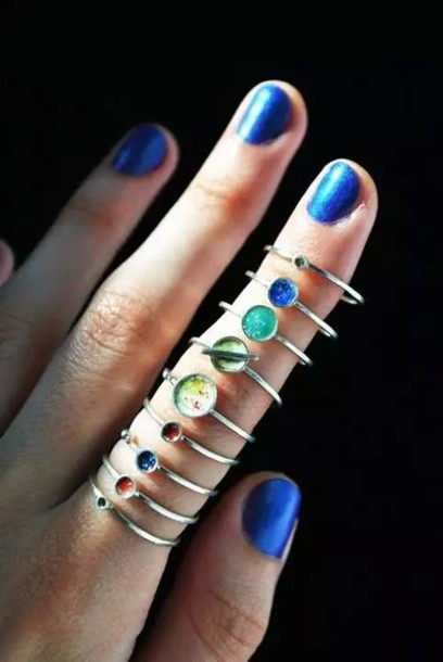 jewels ring planet ring planets midi rings hand jewelry