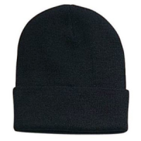 Black Beanie Cuff Plain Blank Ski Cap - Detailed item view - |Great Sunglasses at a Reasonable Price.