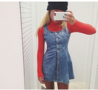 dress denim dress overalls dungarees skater skirt skater dress style summer dress