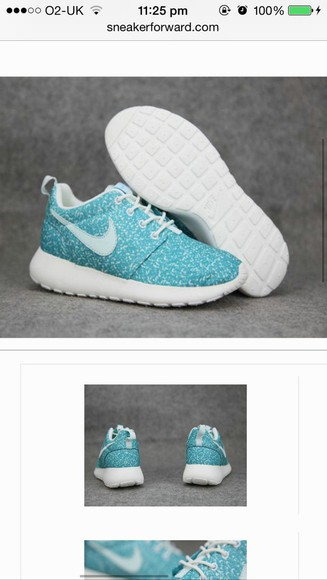 shoes turquoise nike roshe run run