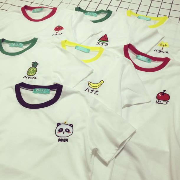 Shirt Colorful Tee Colorful Top Summer T Shirt Summer Top Panda