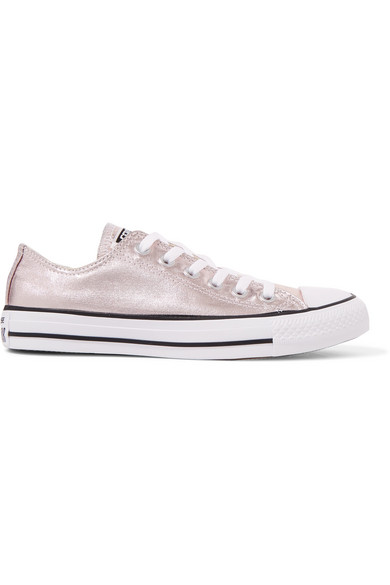 Converse - Chuck Taylor All Star metallic coated-canvas sneakers