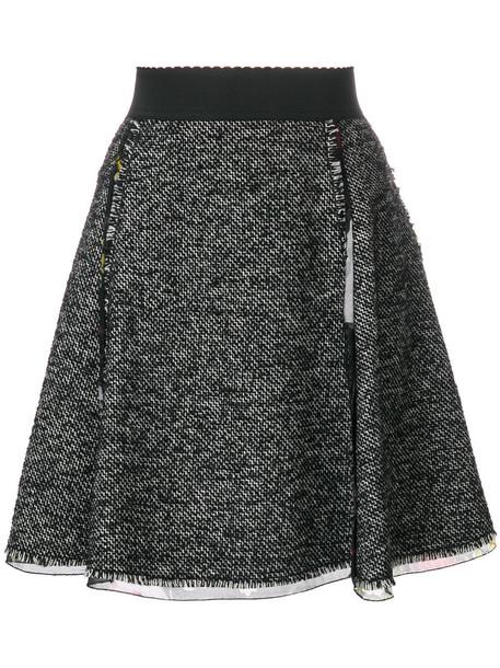 Dolce & Gabbana skirt women black silk wool