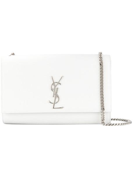 Saint Laurent women bag chain bag leather white