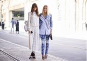 sbstnc,blogger,spring,cropped pants,blue,checkered,polka dots
