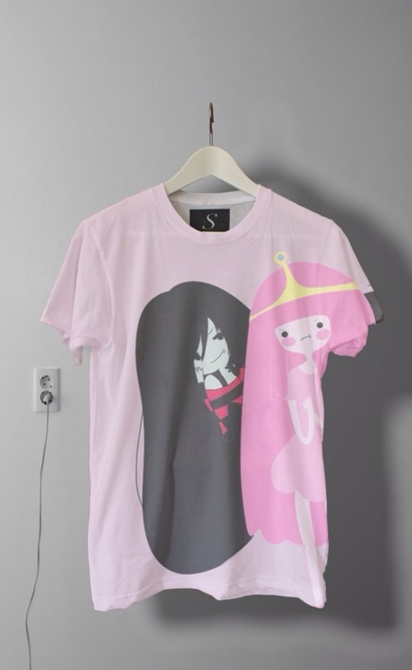t-shirt bubblegum shirt pink marceline cute