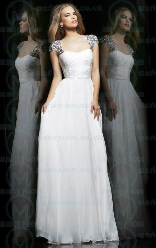 white prom dresses uk