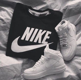 black and white nike sweater nike shirts nike air force shirt bag sweater nike black white logo