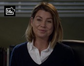 sweater,ellen pompeo,meredith grey,blue,dark blue,white,shirt,grey's anatomy,blue sweater