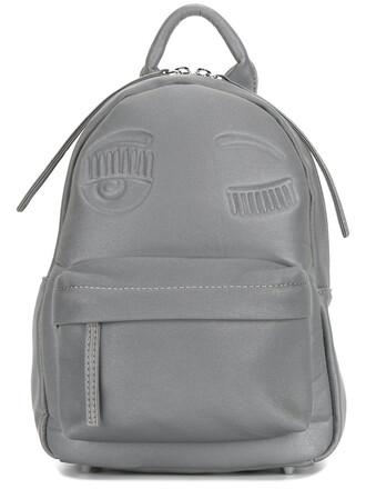 women backpack grey bag