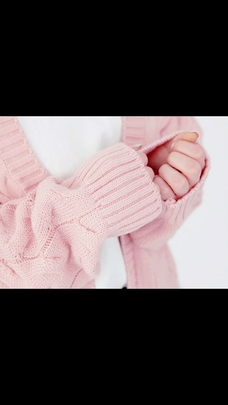 sweater pale pink cardigan cozy oversized cardigan
