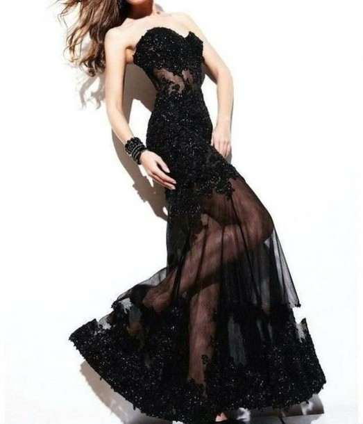 dress lace dress black dress long dress