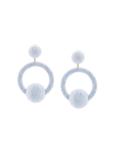 women earrings blue satin jewels