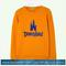 Castle disneyland yellow sweatshirt
