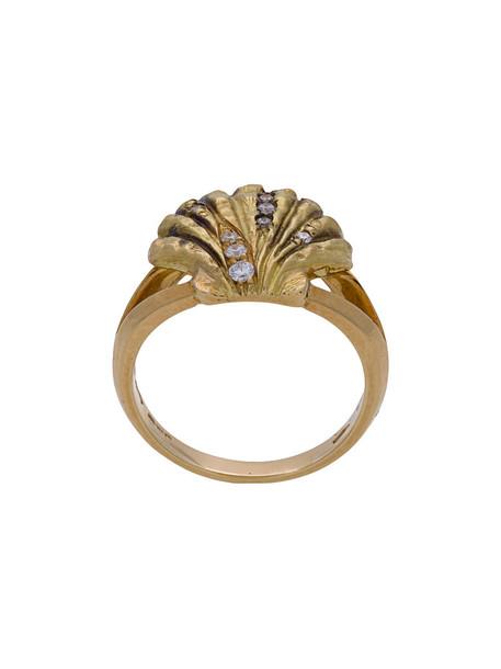 Venyx women lady ring gold black grey metallic jewels