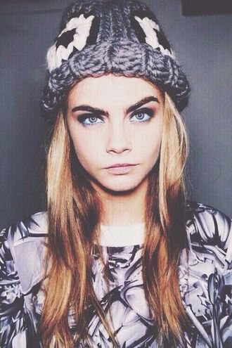 cara delevingne knitted beanie hat