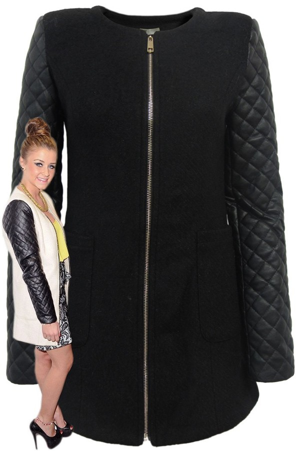coat clothes girly leather jacket