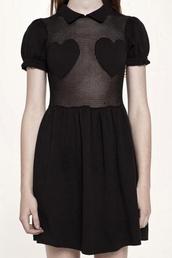 dress,heart,black dress
