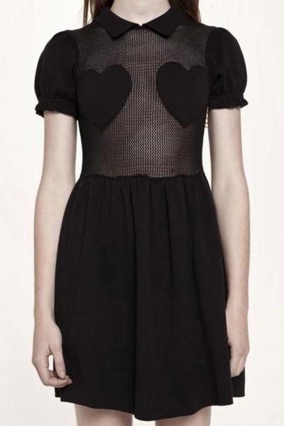 dress heart little black dress