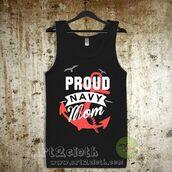 tank top,proud navy mom unisex adult tank top,grey tank top,white tank top,black tank top,summer