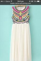 dress,maxi dress,geometric,long,cute dress