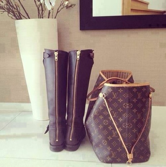 boots shoes winterboots louis vuitton bag winter outfits zipper boots