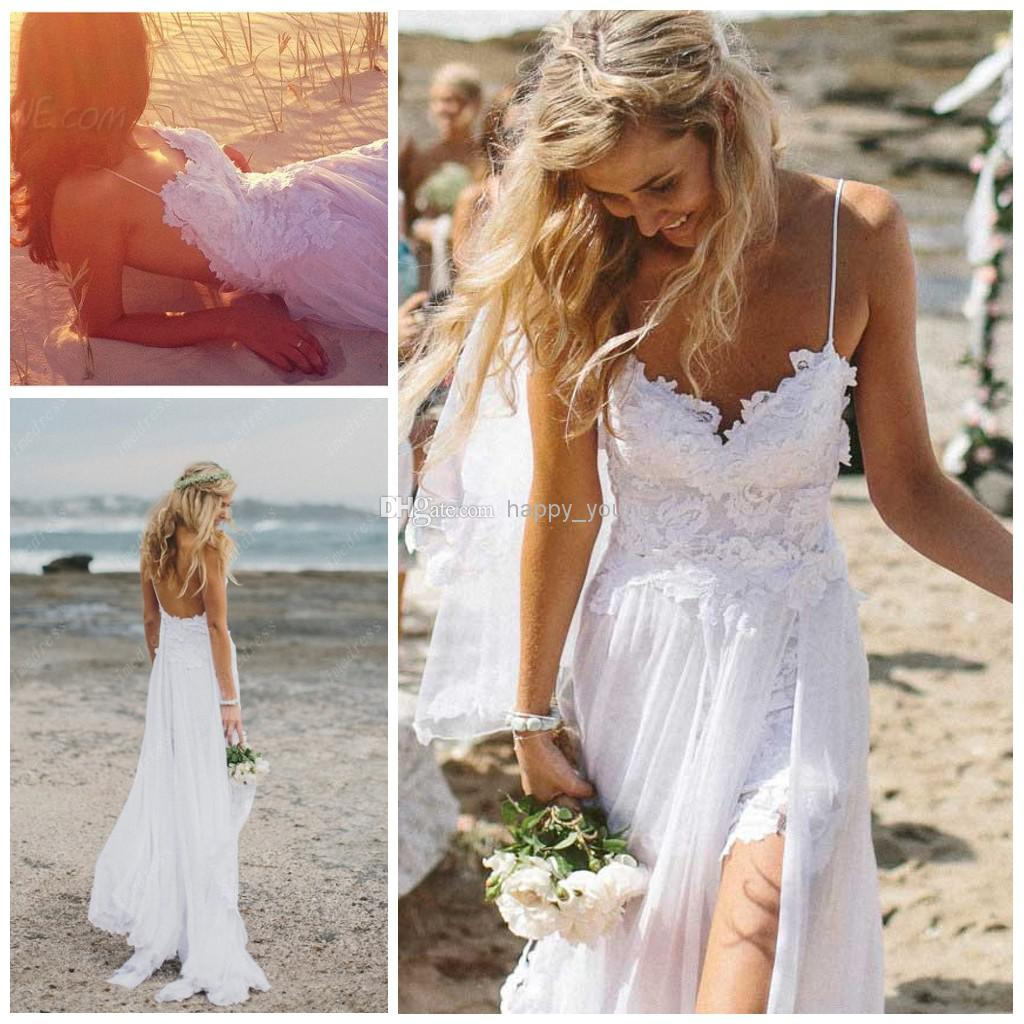 Cheap Backless Wedding Dresses - Discount Low a Line Wedding Dress with Spaghetti Straps Online with $105.05/Piece | DHgate