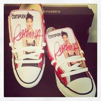 rihanna shoes red black dope chuck taylor all stars converse