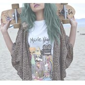jacket,shirt,muscle tee,movie night,quote on it,valfre,skateboard,top,cardigan,leopard print,colorful,skater