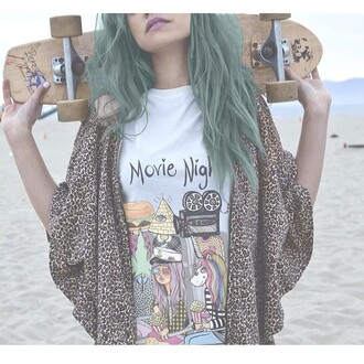 jacket shirt muscle tee movie night quote on it valfre skateboard top cardigan leopard print colorful skater