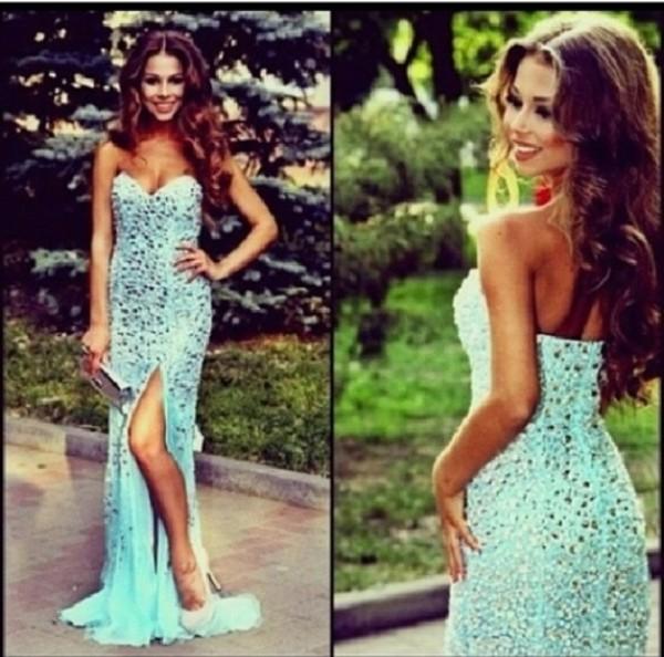 dress long prom dress prom dress blue prom dress prom dress silver