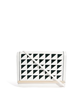 ASOS | ASOS Clutch Bag With Laser Cut Flap at ASOS