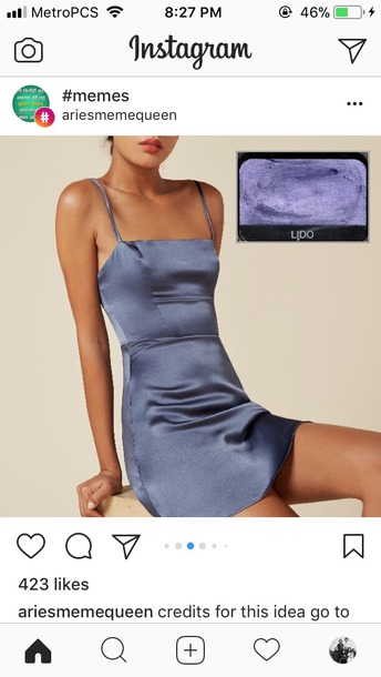 a72bec8f6e324 dress slip dress silk dress silk slip dress blue dress square neckline  short silk dress silk