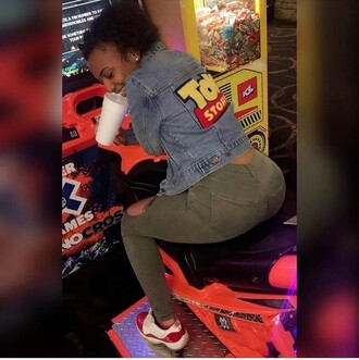 jacket jean jackets character inspired character ripped jeans toy story